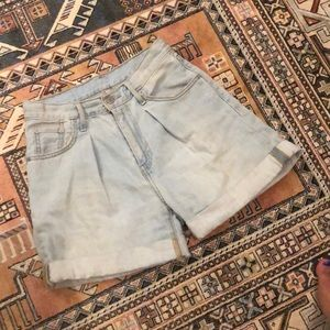 LEVI High Waist Light Wash Denim Shorts